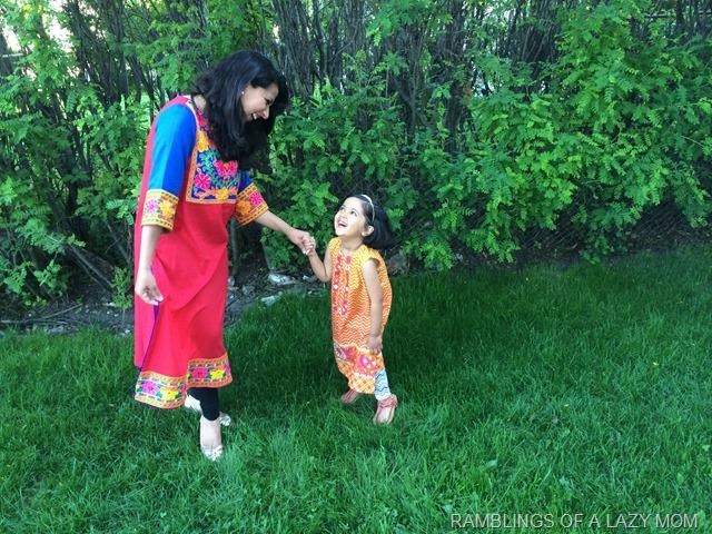 enjoying our urdu clothes